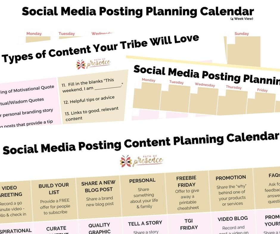 Social Media Content Calendars and Status Updates