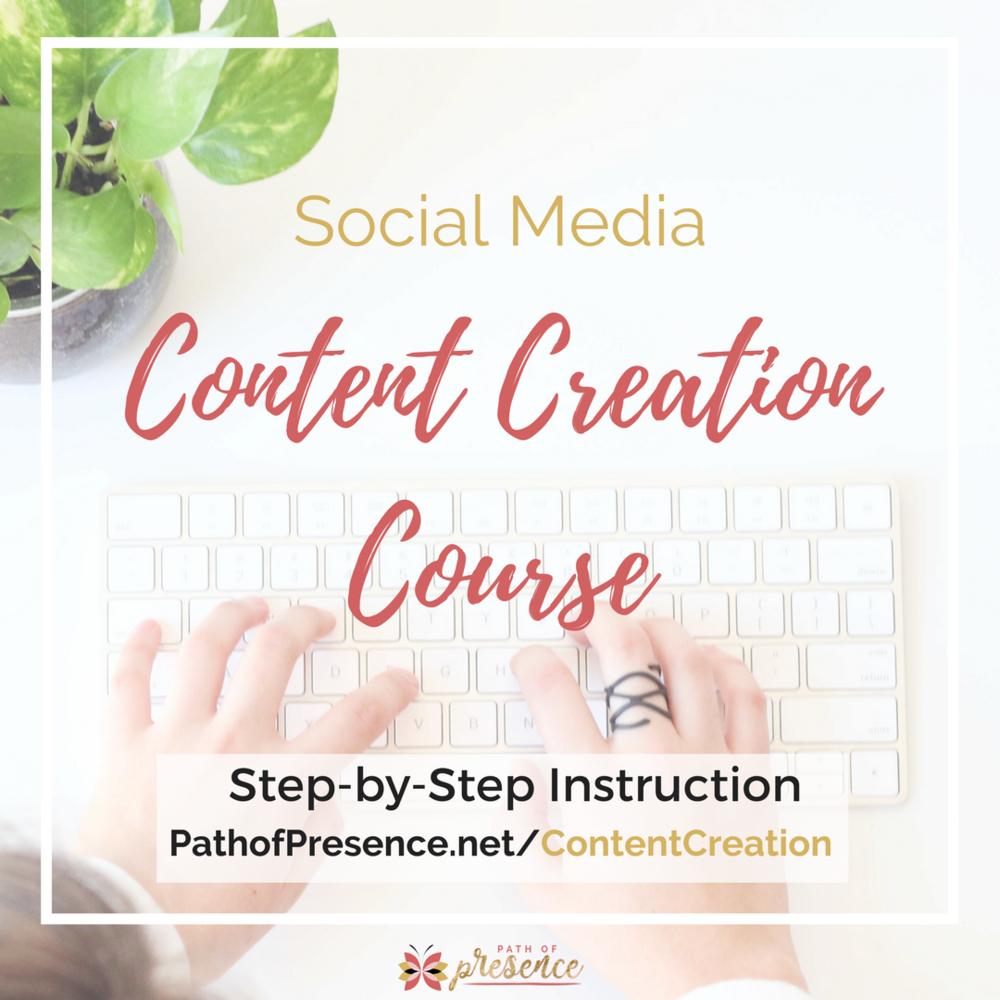 Social Media Content Creation Course