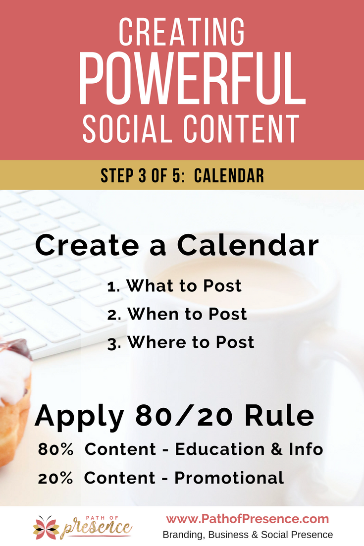 Creating Powerful Social Content :: Create a Calendar and the 80/20 Rule