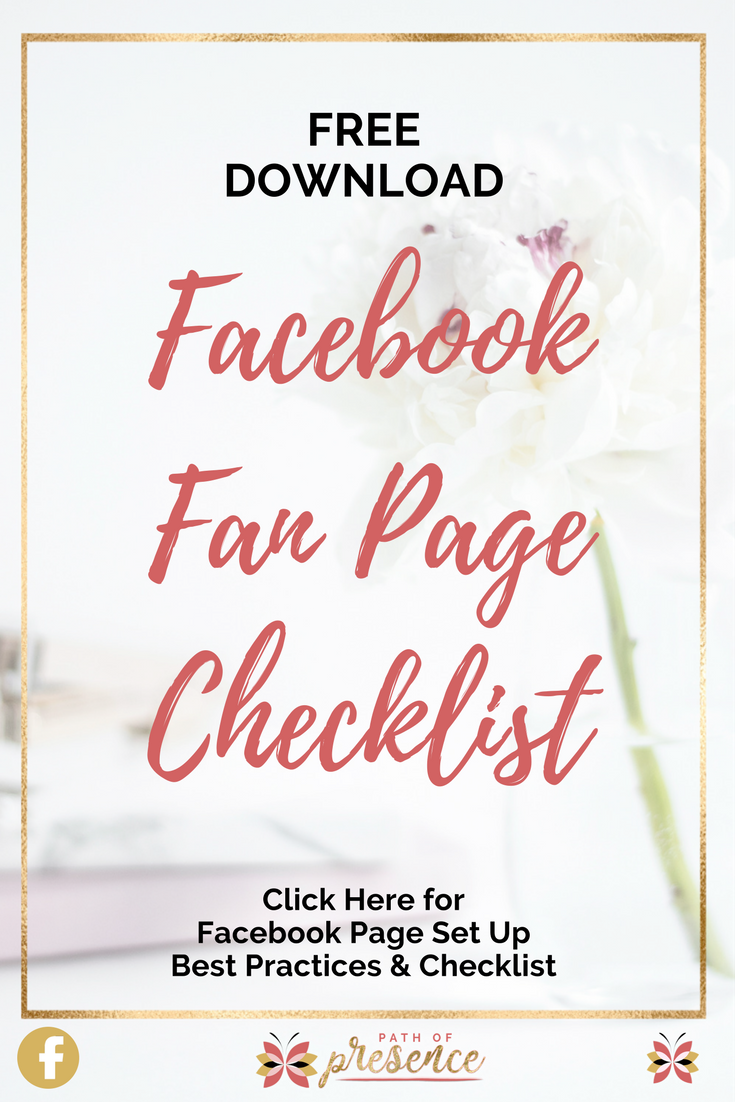 Facebook Fan Page Checklist - Free Download