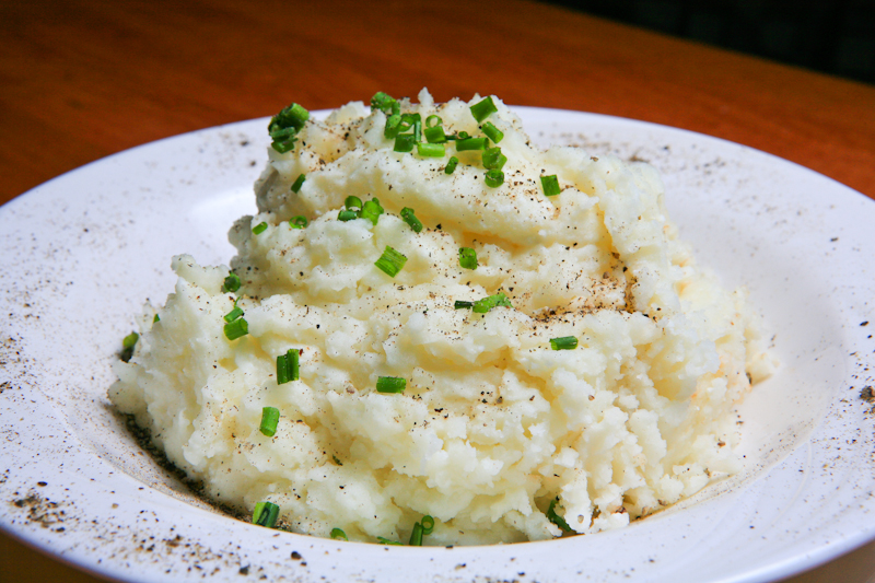 Ricotta & Black Pepper Mashed Potatoes