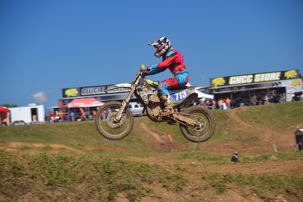 Tayla Jones on the motocross track at the John Penton   Photo Credit: Ken Hill
