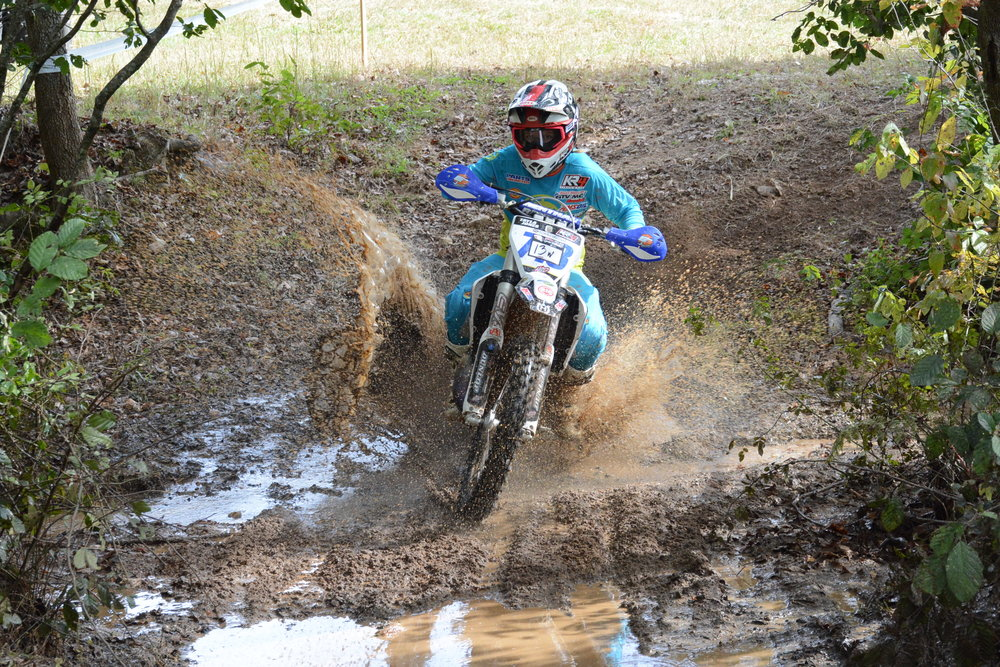 Tayla Jones raced her Husqvarna TC125 and broke into the top-10 overall at the Rocky Crusher Sprint Enduro.