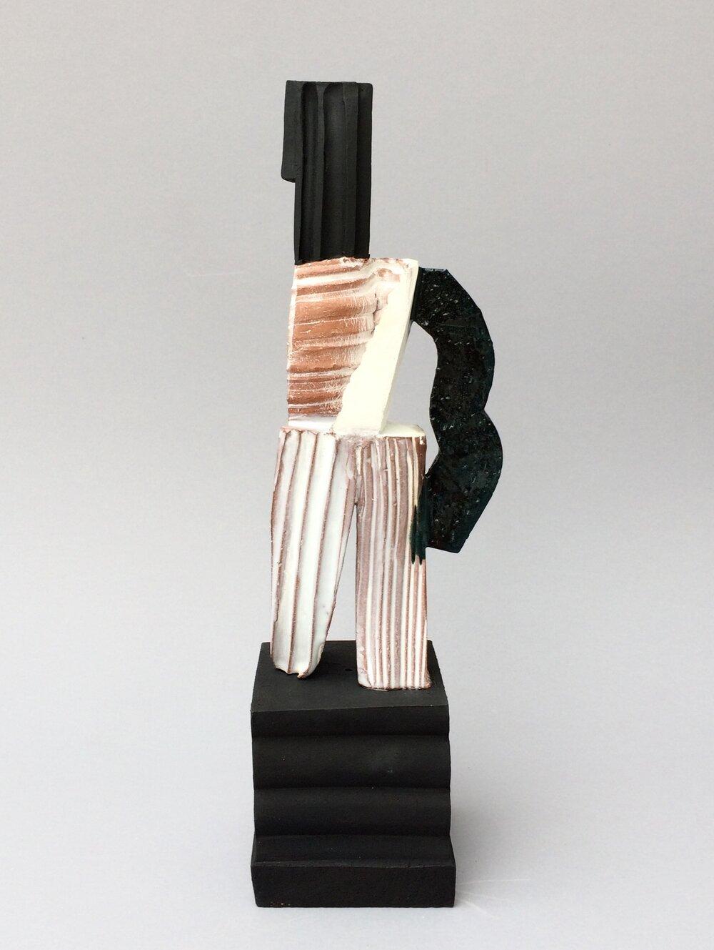 L'homme plissé - H 28cm x W 16cm