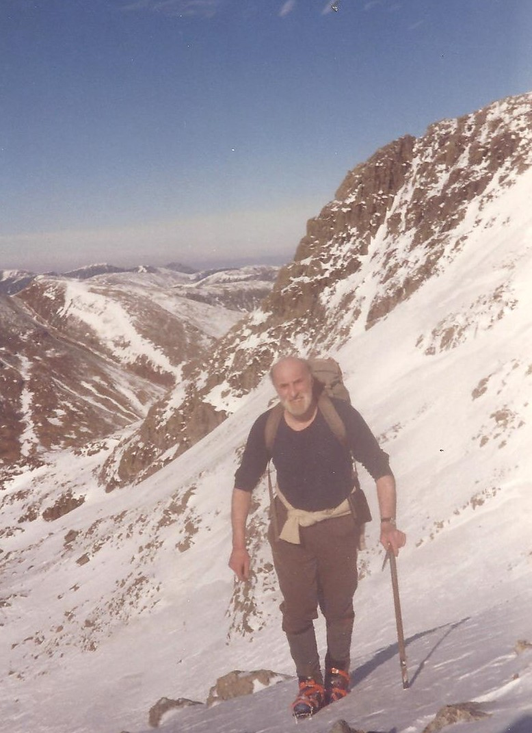 Grandfather in law, Frank Walker (Wuky) hiking in the mountains, photo given to Lake District Mobility