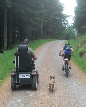 Phil & Jake Biking with Lake District Mobility