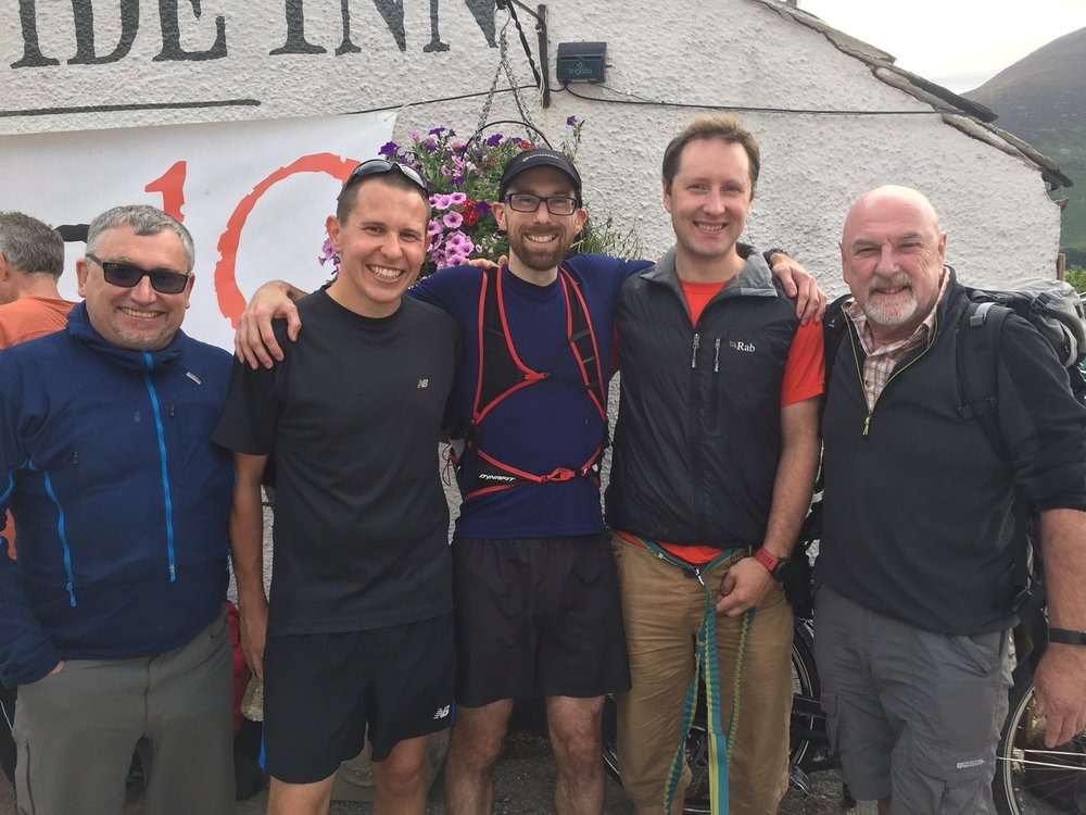 Murray Walker after finishing the 10in10 Ultra raising money for Lake District Mobility - Fundraising page link