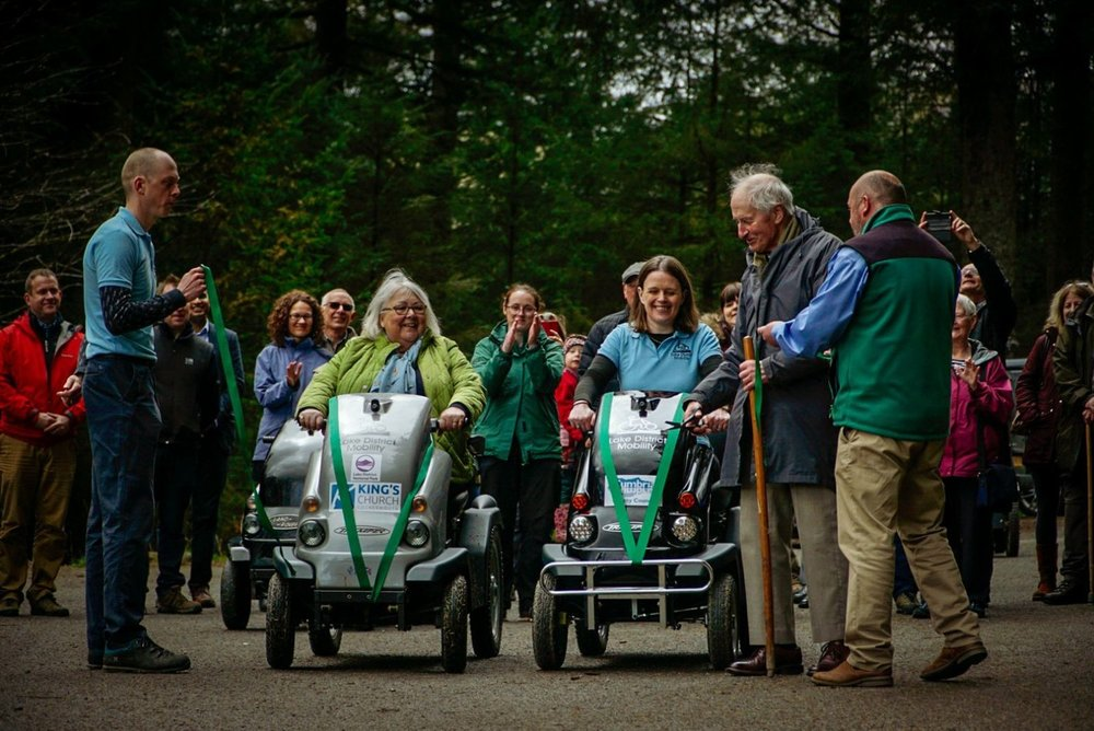 Lake District Mobility - Whinlatter tramper launch. Volunteering Link