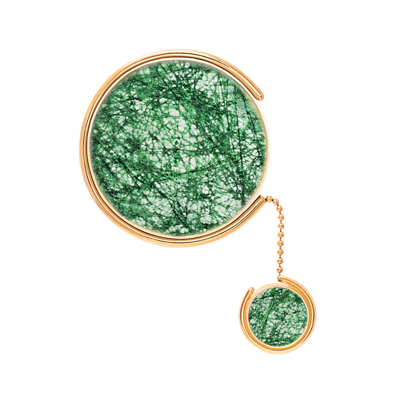Patricia-Wong-The-Rose-Tint-tinted-brooch-gold-emerald-lace