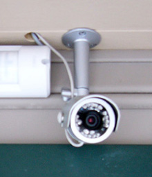 Entrance camera is capable of recording in daylight or total darkness