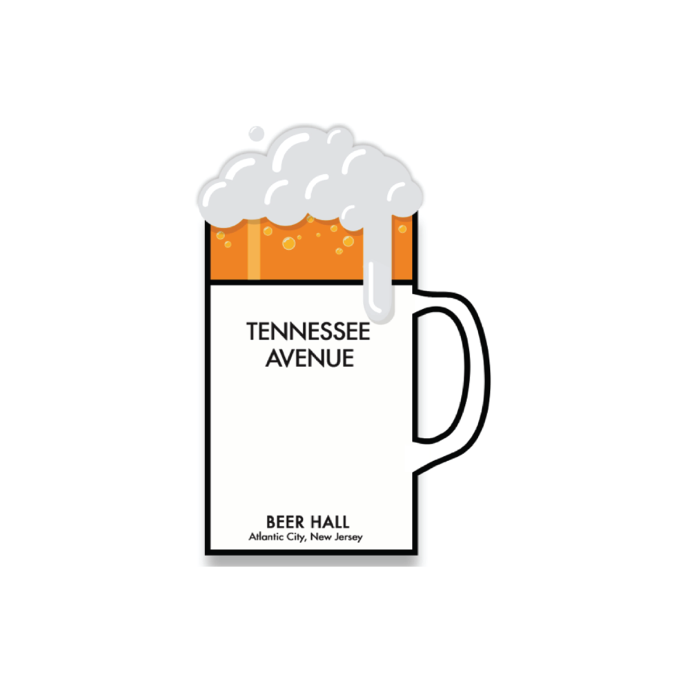 Tennessee Avenue Beer Hall  COMING SOON  133 S. Tennessee Ave. Atlantic City, NJ