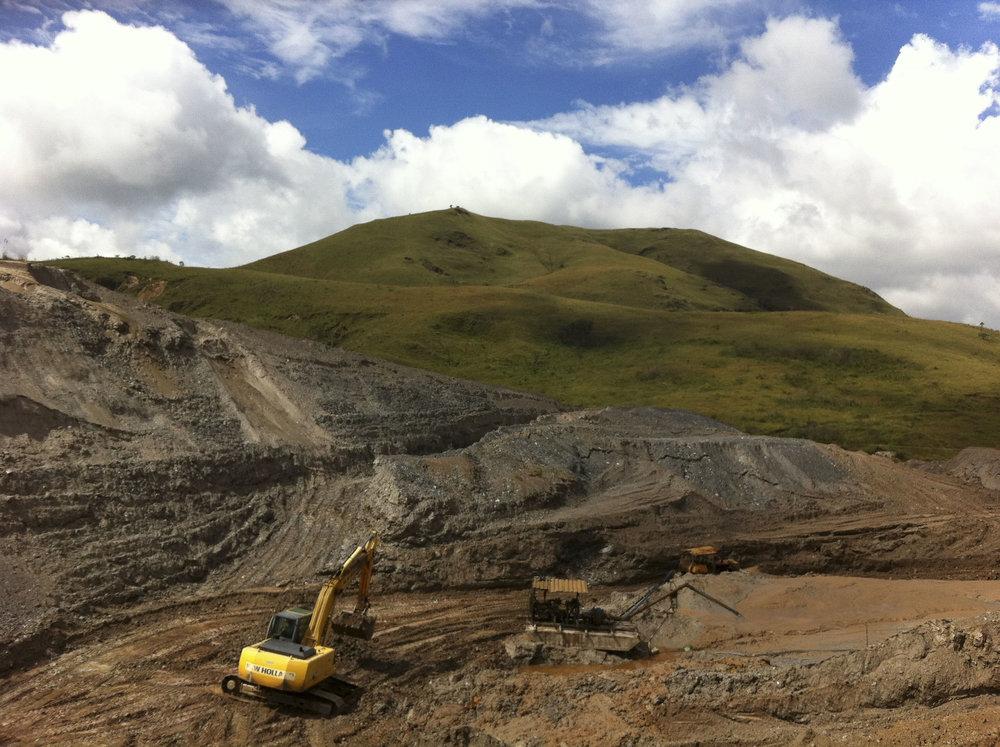 A vast hillside of mining