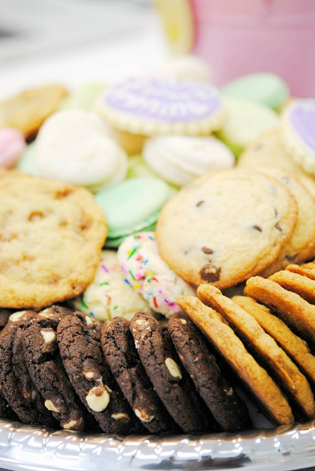 Assorted Cookie Tray - Chocolate-White Chip, Skor Toffee Bits, Birthday Cake, Classic Chocolate Chip, Designer Sugar Cookies, Assorted Macarons