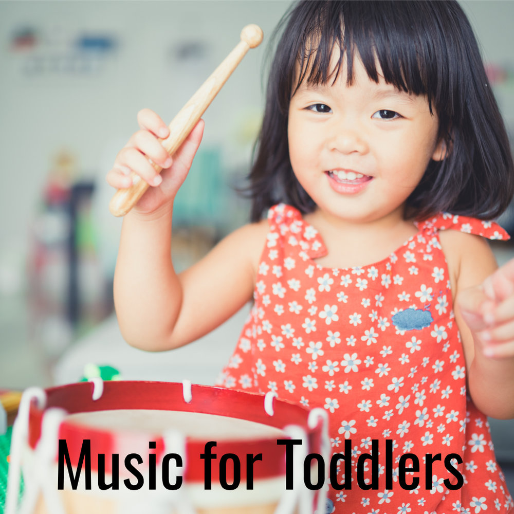 Music for Toddlers    The toddler years are a perfect time to introduce music into your family's daily routine. Use music while brushing teeth, getting dressed, for peaceful nap and bed-time transitions and to help them get their wiggles out!  (Learn more...)