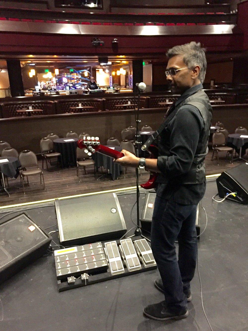 Sound check at Diamond Joe Casino in Dubuque, IA.