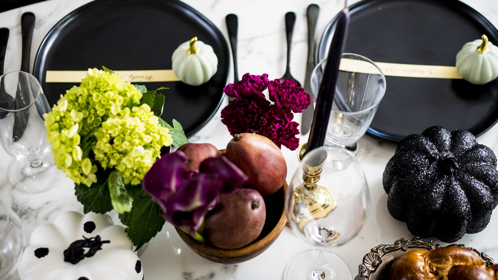 Food Coloring - adding colorful food to your table is an easy, inexpensive way to add style.
