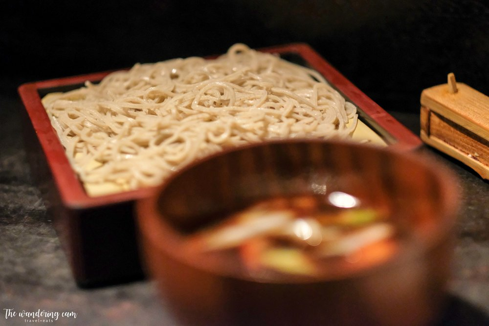 Kamo-Seiro Soba , cold soba paired with hot wild duck broth - very flavourful combination