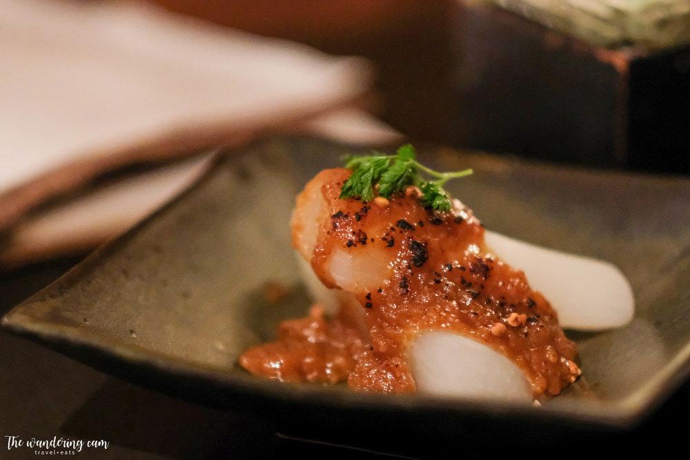 Furofuki Daikon  - tender stewed daikon with sweet miso sauce, delicious quintessential Japanese flavours