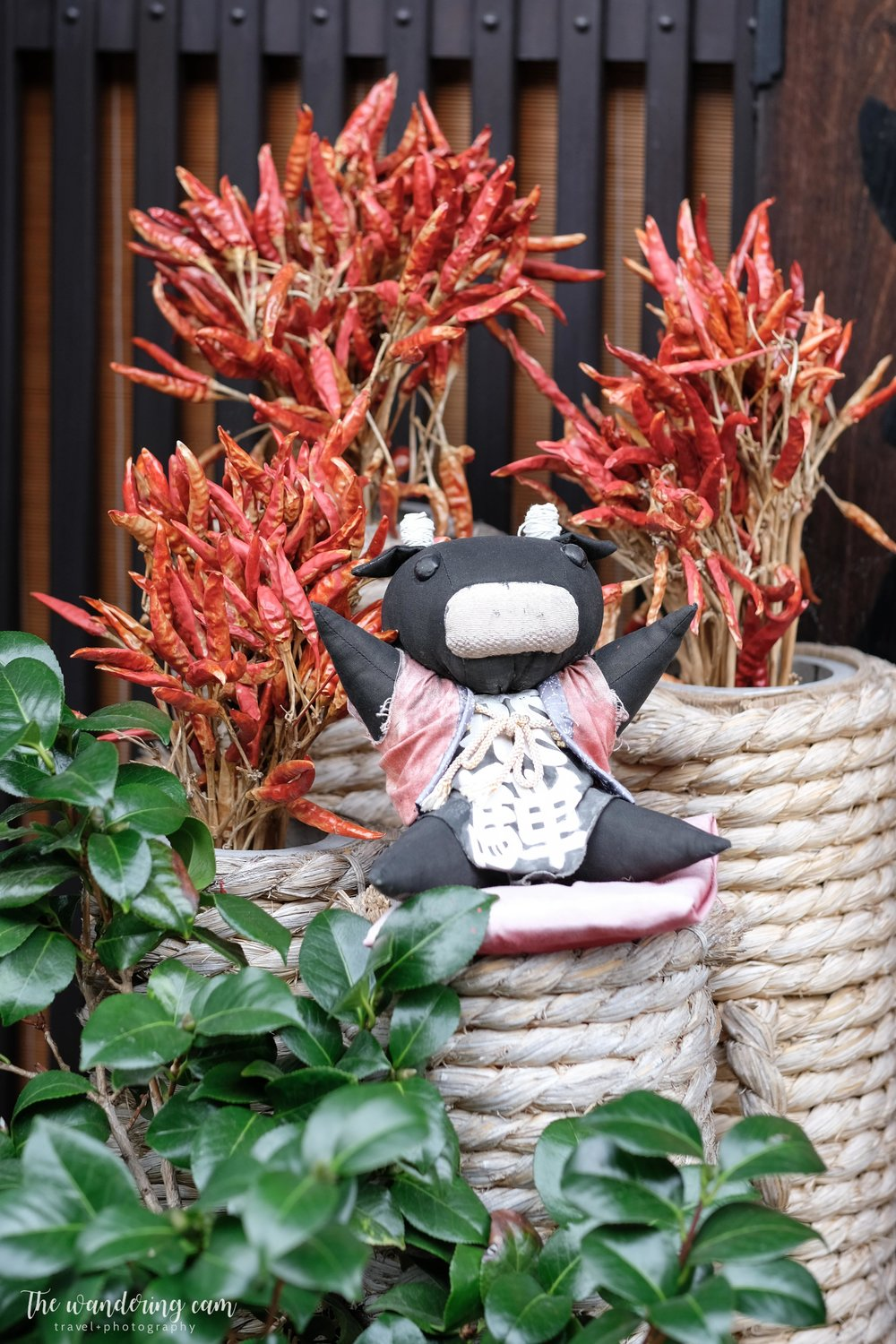 A sarubobo (さるぼぼ) is a Japanese amulet and doll that is the symbol of Takayama and the Hida region. They come in different colours (black means protection from evil). Red ones were common which represents healthy family and children.