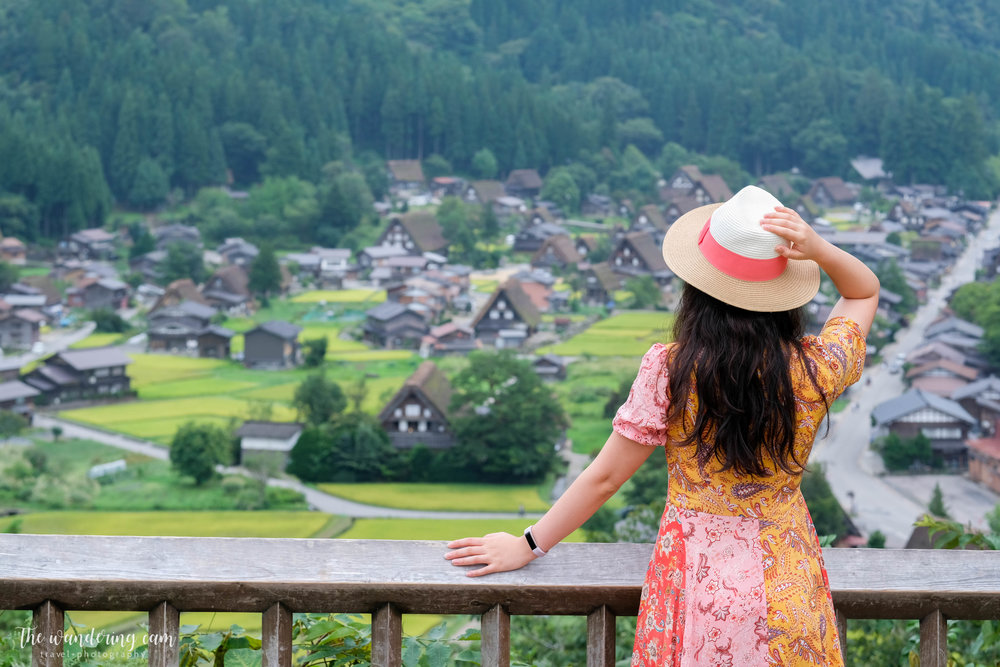 The view from Ogimachi Castle Observation Deck (荻町城跡展望台) - well worth the short uphill climb!