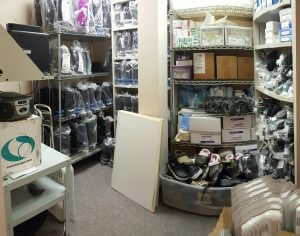 Podiatry Clinic in Bridgewater, Camwalker, Ankle Brace and Surgical Shoe Supply Room