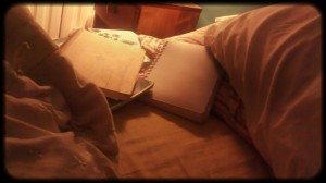 in bed with my journals