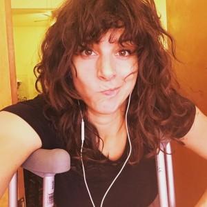 jess on crutches