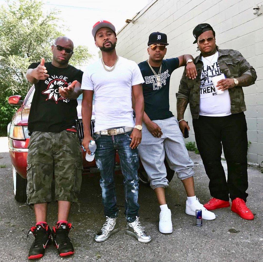 L to R: Dawgface, Zaytoven, Al Nuke & Cassius Jay in Detroit, MI