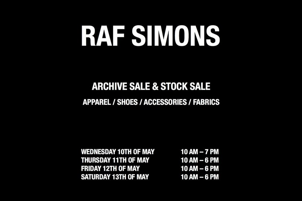 RAF SAMPLE SALE