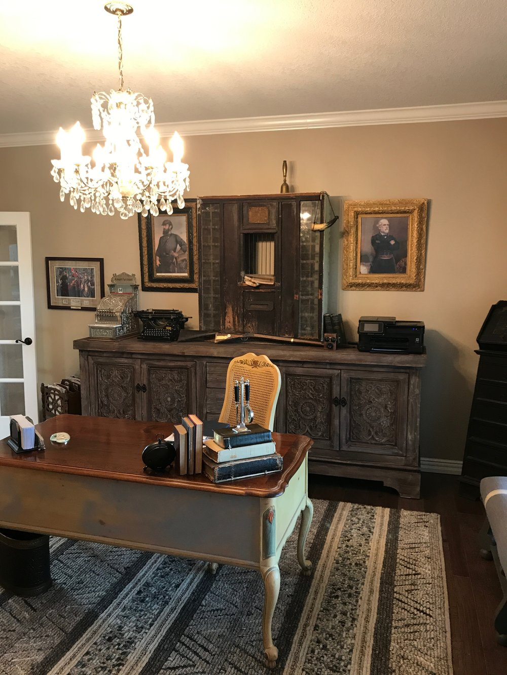 HIWASSE Home Office - Filled with vintage heirlooms