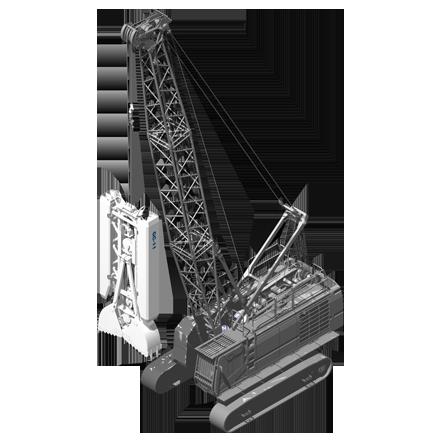GC 11 - Profundidad máxima: Depende de la grúaRelación de excavación: 600/1200 x(ancho/largo): 2500/3000 mmPeso: 11.3 toneladas