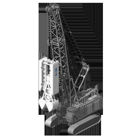 GC 16 - Profundidad máxima: Depende de la grúaRelación de excavación: 800/1200 x(ancho/largo): 2800/3500 mmPeso: 16 toneladas