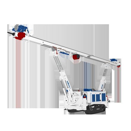 ST 20 - Motor diesel: 123 + (90) kWLevantamiento máximo: 67 kNPeso: 21 toneladas