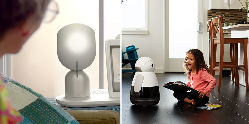 (L) ElliQ robot, the active aging companion (R) Kuri, personal robot for your home