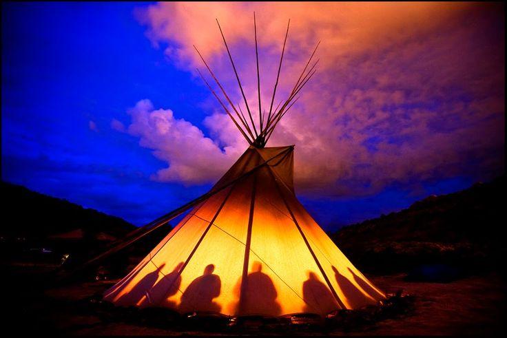 A Lakota peyote ceremony in Utah. Image Source:  Oklevueha Native American Church