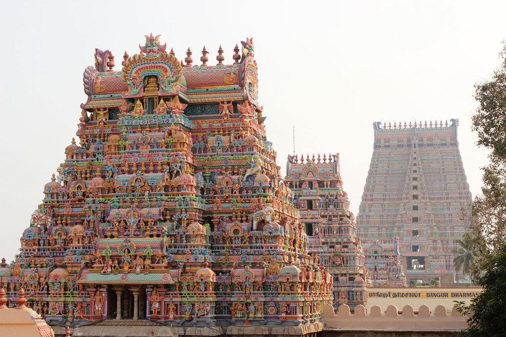 Sri Ranganathaswamy Temple in Srirangam, India. Image Source:  Hidden Treasures of India