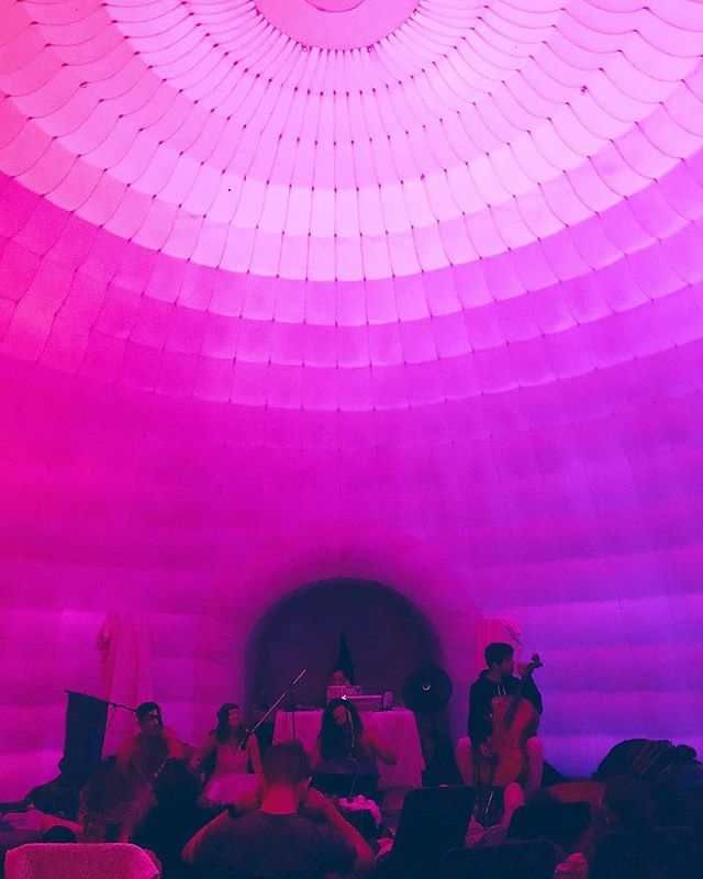 Sound bath in an igloo in the woods? Getting inspired by our offsite retreat last weekend. 🏕 #icraveculture #design #experiencedesign #immersiveart #ambient #newyorkcity #music #installationart #meditation