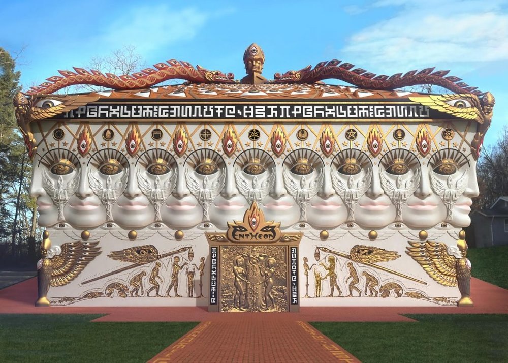 Rendering of the Chapel of Sacred Mirrors exterior. Image Source:  Chapel of Sacred Mirrors