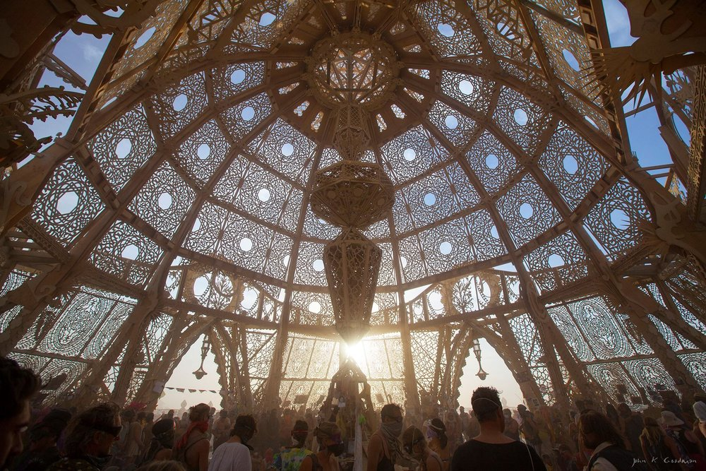 Temple of Transition. Burning Man, 2011. Image Source:  Modlar