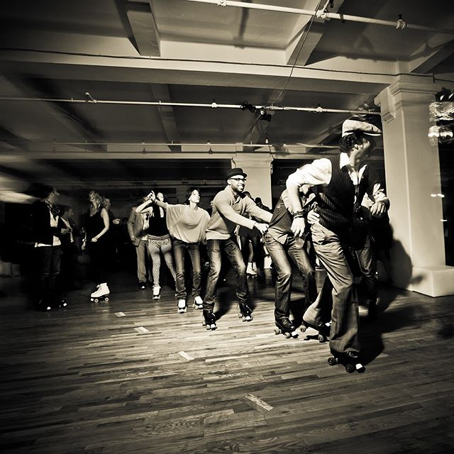 #flashbackfriday 🛠 when we had a roller skating party in the office! We build environments and we make things happen. 🕺🏼 . . . #icrave #design #architecture #artoftheday #office #creatives #designers #art #bringtolife #nyc