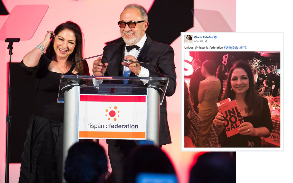 Honorees Gloria and Emilio Estefan