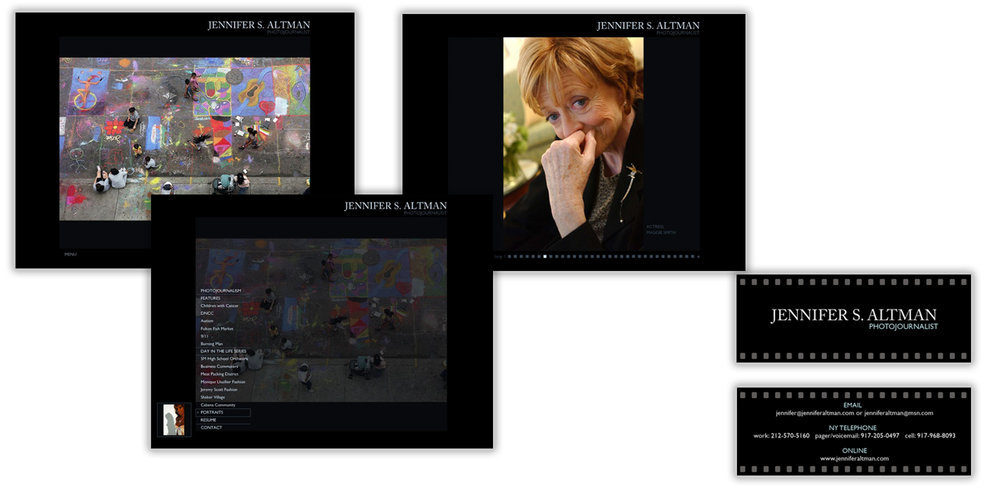 Jennifer Altman Website and Business Card Design