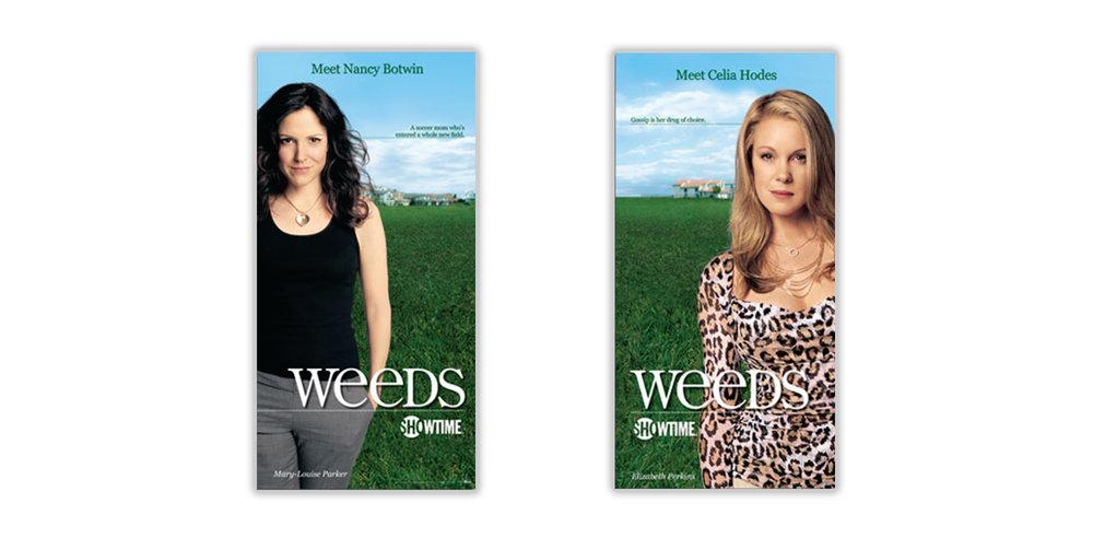 Weeds Window Clings