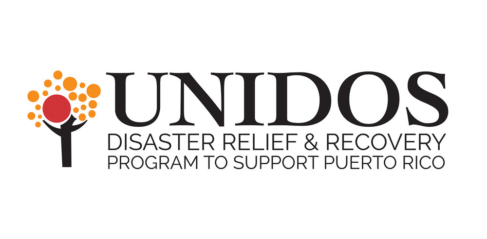 The UNIDOS brandmark is a play off of the Hispanic Federation's logo.