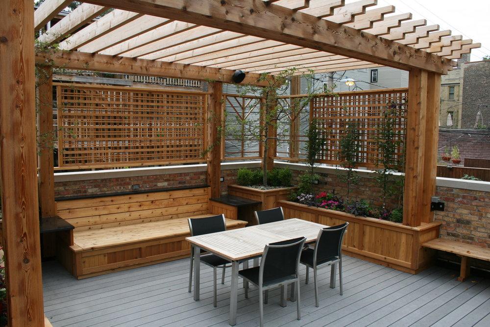 Garage Rooftop Deck Pergola PO Construction.JPG