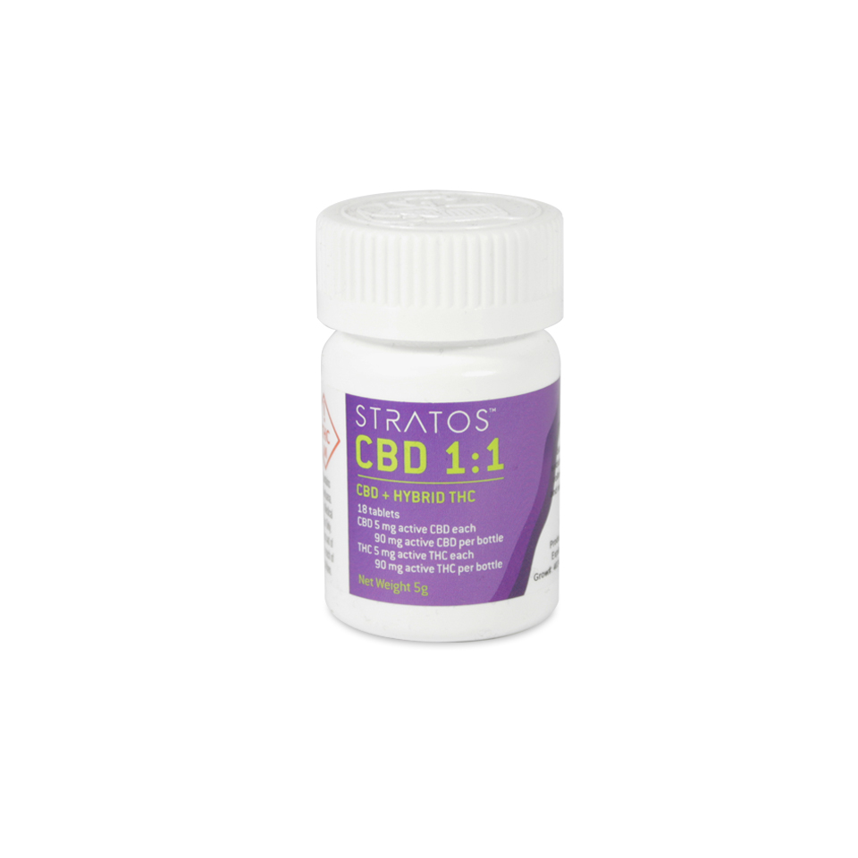 CBD and THC Tablets 1:1 (5mgs of each)