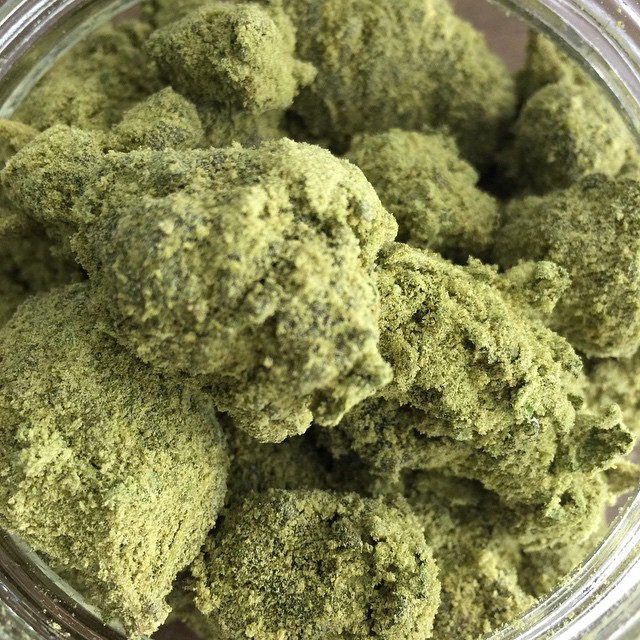 Caviar (cannabis buds that have been soaked in high quality hash oil, then coated in  kief .