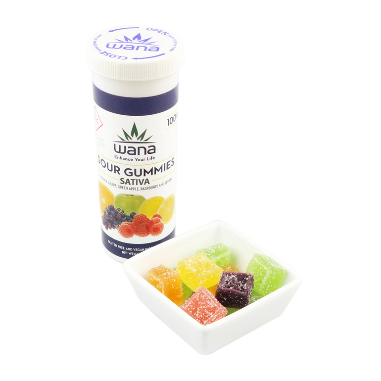 Sour Mixed Fruit Sativa Gummies (10mgs)