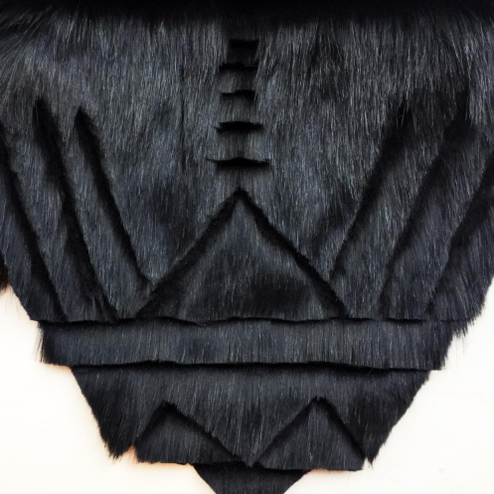 hand-trimmed faux fur