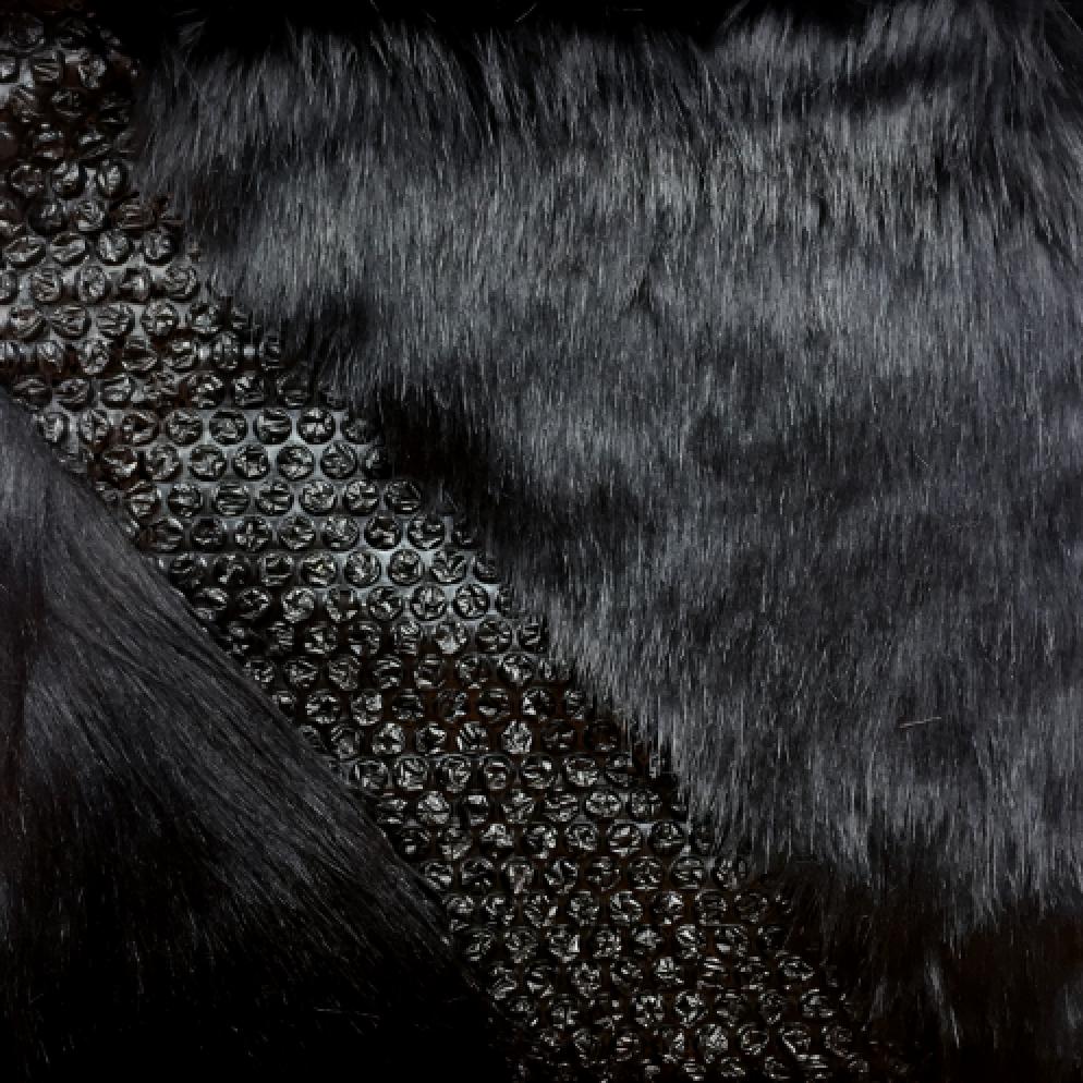 bubble wrap w/ faux fur
